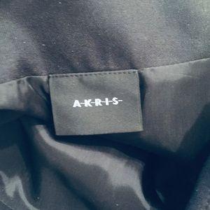 Akris Skirts - AKRIS LAMB NAPPA LEATHER/WOOL SKIRT